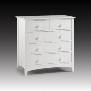Cameo Stone White Lacquered 3 + 2 Drawer Chest