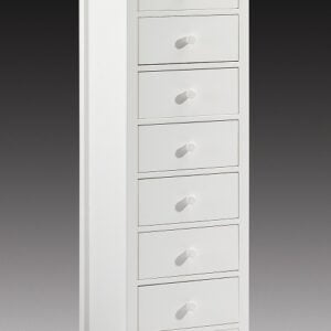Cameo Stone White Lacquered 7 Drawer Chest