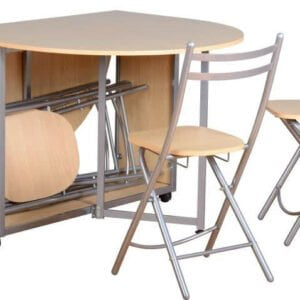 Budget Butterfly Dining Set With 4 Chairs