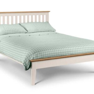 Salerno Double Bed Two Tone Ivory and Oak 135cm